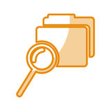 Folder file with magnifying glass isolated icon. Vector illustration design Stock Image