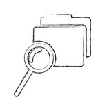 Folder file with magnifying glass isolated icon. Vector illustration design Royalty Free Stock Images