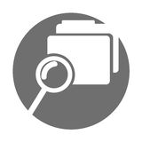Folder file with magnifying glass isolated icon. Vector illustration design Royalty Free Stock Photo