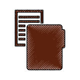Folder file with paper isolated icon. Vector illustration design Royalty Free Stock Photography