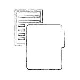 Folder file with paper isolated icon Royalty Free Stock Image