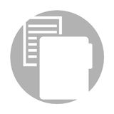 Folder file with paper isolated icon Stock Photos