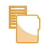 Folder file with paper isolated icon. Vector illustration design Stock Photos