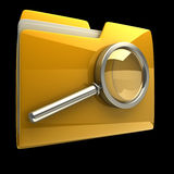 Folder and file search with magnifying Royalty Free Stock Photography