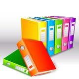 Folder File. Vector illustration of colorful hardbound folder file Stock Photography