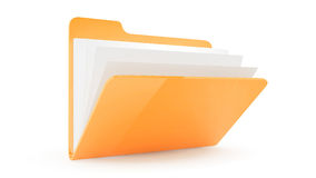Folder with files. Folder Folder with fileswith files on wite background Royalty Free Stock Image