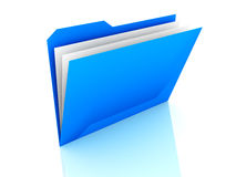 Folder with files Royalty Free Stock Photo