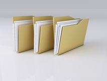 Folder with Files,3D Illustration Stock Image