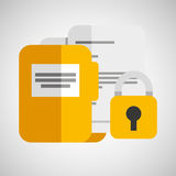Folder files padlock archive graphic. Vector illustration eps 10 Stock Photo