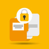 Folder files padlock archive graphic. Vector illustration eps 10 Stock Images