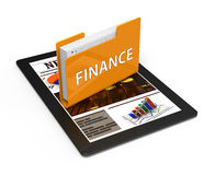 Folder finance Stock Image