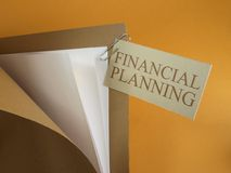 Folder by financial Planning Royalty Free Stock Photo