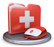 Folder first aid. In the design of information related to information technology Stock Photo