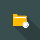 Folder flat icon. The folder is in flat style. Vector illustration Royalty Free Stock Image