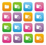 Folder flat style icon sets. Suitable for user interface Royalty Free Stock Photos