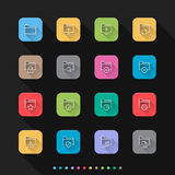 Folder flat style icons set - Vector illustration for Web & Mobile Royalty Free Stock Photos