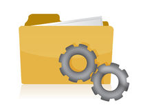 Folder with gears illustration design on white Royalty Free Stock Photography