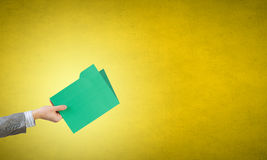 Folder in hand Royalty Free Stock Image
