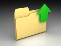 Folder icon Stock Photography