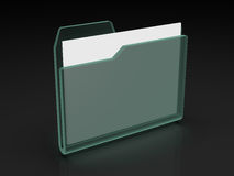 Folder icon. Set series. Standard folder in x-rays on dark background with documents Royalty Free Stock Photos