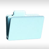 FOLDER ICON. 3d render of a folder Royalty Free Stock Images