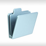 FOLDER ICON. 3d render of a folder Stock Photo