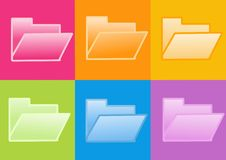 Folder icon. 3d folder icon - computer generated clipart Royalty Free Stock Photo