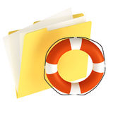 Folder Icon. Isolated over a white background. This is a 3D rendered picture Stock Photo