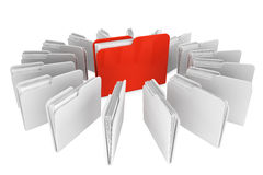 Folder icon. Documents organized concept. Red Folder with paper on a white background Royalty Free Stock Photography