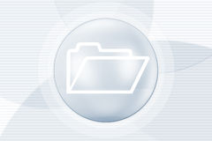 Folder icon. An abstract illustration of a folder icon on a decorative background Royalty Free Stock Photography