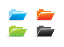 Folder icon. Different color vector folder icon Royalty Free Stock Image