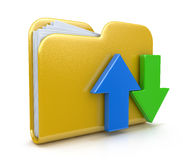 Folder icon and arrows. In the design of the information related to computer technology Royalty Free Stock Images