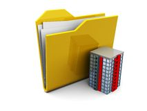 Folder icon and building Royalty Free Stock Photography