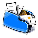 Folder icon cartoon vector illustration. This is file of EPS10 format Stock Photos