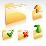 Folder Icon Collection. A set of glossy 3D folder icon Stock Photography