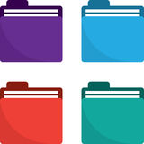 Folder Icon Colors Royalty Free Stock Photos