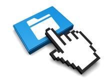 Folder Icon. 3D Illustration Folder Vector Icon Royalty Free Stock Photos