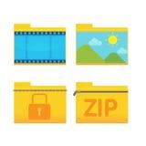 Folder Icon Design Style Set Vector Stock Photography