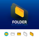 Folder icon in different style Royalty Free Stock Images