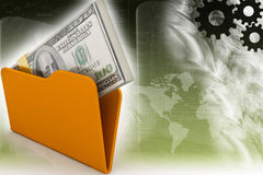 Folder icon with dollar Stock Photography