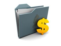 Folder icon with dollar sign Royalty Free Stock Image