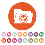 The folder icon. File symbol. Flat. Vector illustration. Button Set Stock Photography