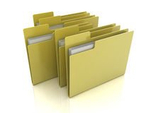 Folder icon with files Stock Image