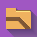 Folder icon , Flat design. Available in high-resolution and several sizes to fit the needs of your project Royalty Free Stock Image