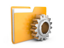 Folder icon with gear wheel. Settings sign Royalty Free Stock Photography