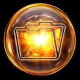Folder icon glass royalty free stock photos