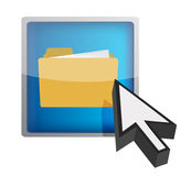 Folder icon graphic Stock Images