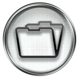 Folder icon grey Royalty Free Stock Photo