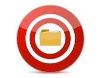 Folder icon inside a target illustration design Royalty Free Stock Images