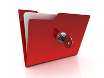 Folder icon with key Stock Image